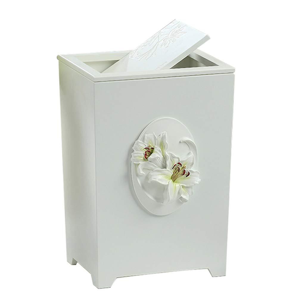 HBJP 家庭用ゴミ箱、創造的なごみ箱、木製紙バスケット、6リットル ゴミ箱   B07R33KZRD