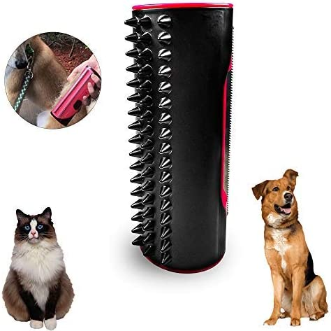 MEEQIAO Rollo De Depilación para Mascotas, Multifuncional Cepillo para Depilación De Perros Y Gatos, para El Cabello Caspa Pet Roll (Rosa): Amazon.es: Productos para mascotas