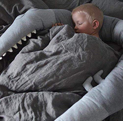 185 CM L/änge CULASIGN Kinderbett Bettumrandung-Krokodil Stil Kantenschutz Kopfschutz Sto/ßstange f/ür Babybett