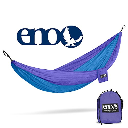 Eagles Nest Outfitters ENO DoubleNest Hammock, Portable Hammock for Two, Purple/Teal (FFP) by Eagles Nest Outfitters