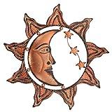 magnificent formal garden design  Sun Moon Stars Celestial Face Metal Wall Decor Product SKU: HD229081