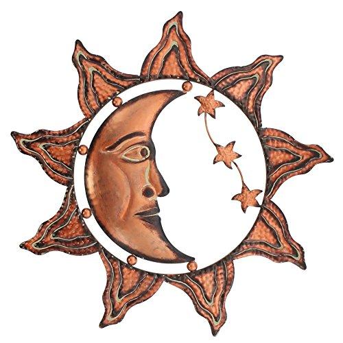 Sun Moon Stars Celestial Face Metal Wall Decor Product SKU: HD229081