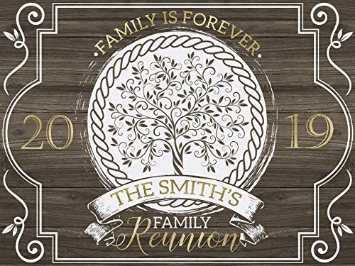 Family is Forever Banner, Wooden Design, Family Reunion Banner, Family Reunion Reception Sign, Wooden Decor, Family Reunion, Family Day 2019, Family Reunion Poster, Size 48x36, 48x24, 36x24, 24x18]()