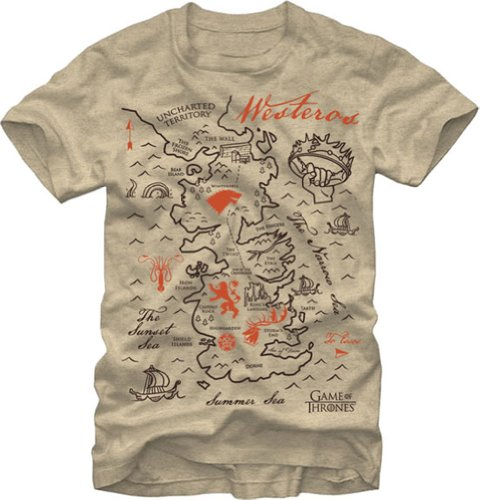 Game Of Thrones Westeros Map Men's T-Shirt