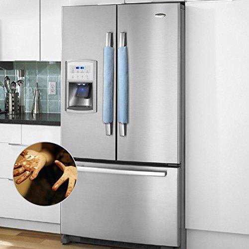 Pawaca Refrigerator Dust Door Handle Covers Kitchen