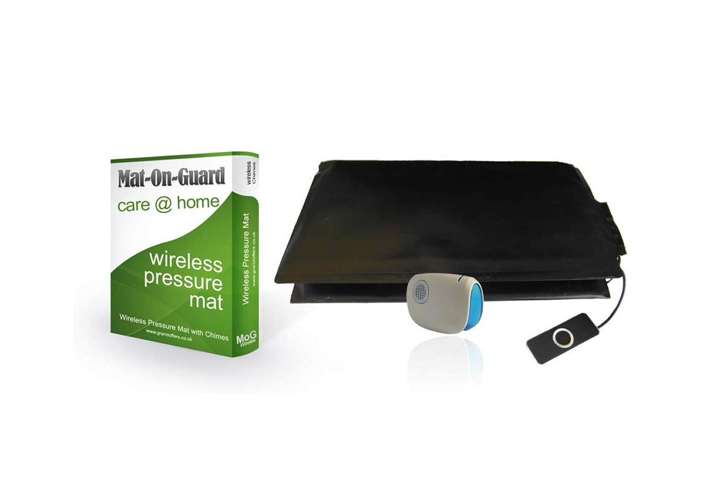 Mat-On-Guard IP-100s. NOW -- MEDICALLY DISINFECTED AND SEALED -- Wireless Dementia Health Care and wandering pressure pad carer alarm, alarm mat for the elderly, foot pressure pads (Sensor mat for the elderly and Alzheimer's).