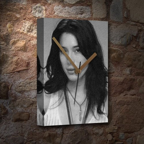- JAIME MURRAY - Canvas Clock (LARGE A3 - Signed by the Artist) #js001