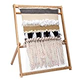 Inlovearts 23.6'H x 21.3'W Weaving Loom with Stand Wooden Multi-Craft Weaving Loom Arts & Crafts, Extra-Large Frame, Develops Creativity and Motor Skills Weaving Frame Loom with Stand for Beginners