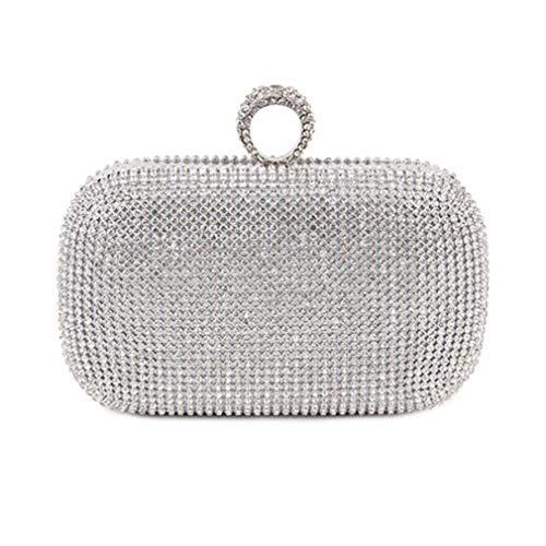 Bag Wedding Wallets Handbags Party Bag Diamond Silver Bags With Chain Evening Clutch Women's Shoulder Studded x8SOBq