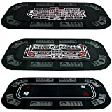 Trademark Poker Superior 3 in 1 Poker/Craps/Roulette Tri Fold Table Top