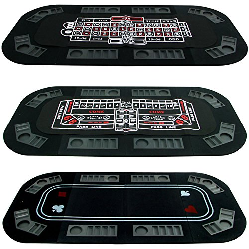 Trademark Poker Superior 3 in 1 Poker/Craps/Roulette Tri Fold Table Top by Trademark Poker