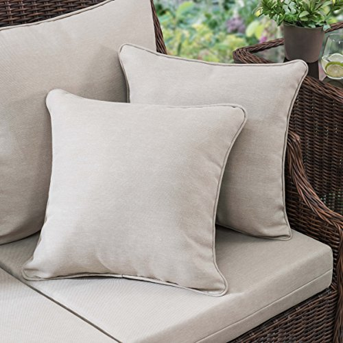 Sunjoy S-PL065PFB Outdoor Pillow, Tan
