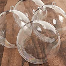 Bulk Case of 24 Clear Acrylic 100mm Fillable Keepsake Ball Ornaments