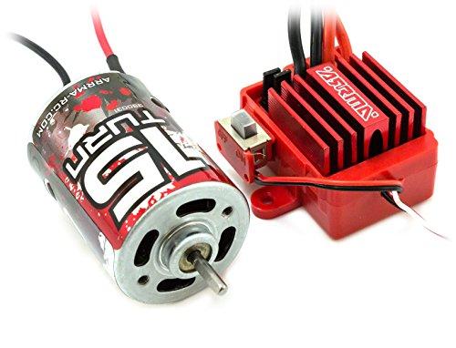 Arrma Mega Brushed ESC & 15T Motor Combo (2S LiPo) Granite Fury Raider Vorteks