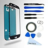 SAMSUNG GALAXY S3 i9300 I747 T999 I535 BLACK DISPLAY TOUCHSCREEN REPLACEMENT KIT 12 PIECES INCLUDING 1 REPLACEMENT FRONT GLASS FOR SAMSUNG GALAXY S3 / 1 PAIR OF TWEEZERS / 1 ROLL OF 2MM ADHESIVE TAPE / 1 TOOL KIT / 1 MICROFIBER CLEANING CLOTH / WIRE