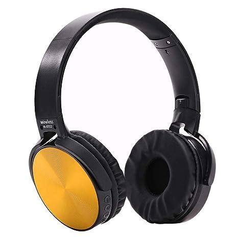 Navigatee Auriculares inalámbricos Bluetooth, Auriculares Plegables para Colocar Sobre Las Orejas, Auriculares con Cable