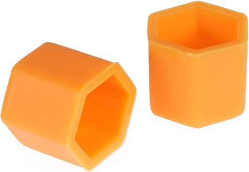 Vosarea Wheel Nuts Covers Silicone Screws Protect Caps 19 mm Pack of 20 Orange
