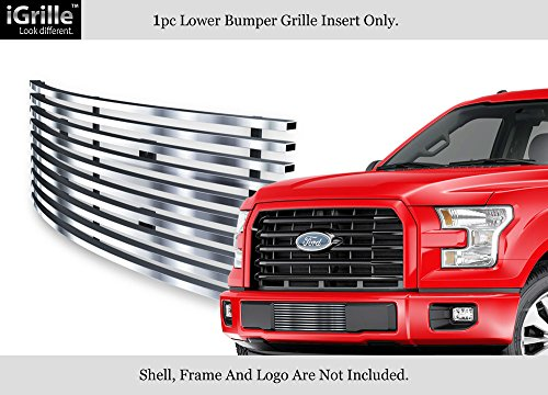 Aps Fits 2015 2017 Ford F 150 Stainless Steel Lower Bumper Billet Grille N19 C31366f