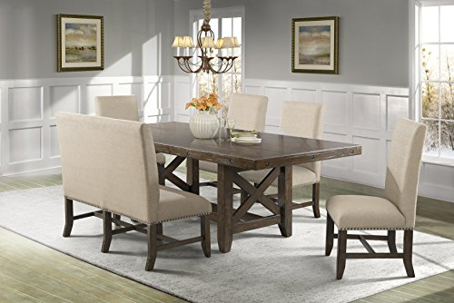 - Picket House Furnishings Francis 6 Piece Dining Set in Natural