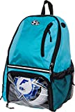 LISH Soccer Backpack - Large School Sports Bag w/Ball Compartment (Aqua)