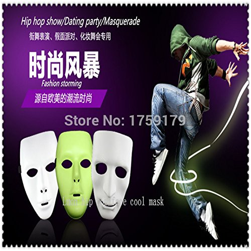 [2015 - Scary White Face Halloween Masquerade DIY Mime Mask Ball Party Costume Masks hip hop face cool] (Halloween Costume Mime Face)