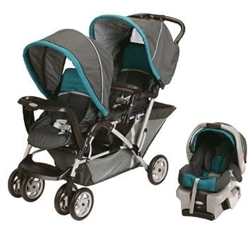 Amazon.com : Graco DuoGlider Folding Double Baby Stroller w/ Car ...