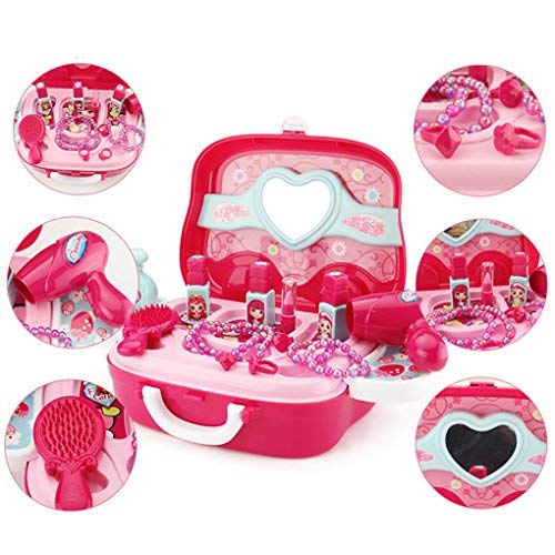 Role Play Jewelry Kit for Girls Toy Set Princess Suitcase Gift for Kids Children 3 Years Old by YIMORE (Image #3)