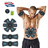 OQWM Ab Stimulator Muscle Trainer Ultimate Abs Stimulator Ab Stimulator for Men Women Abdominal Work Out Ads Power Fitness Abs Muscle Training Gear Workout Equipment Portable Stimulator Abs Belt