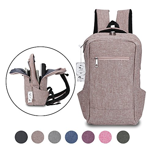 Laptop Backpack,Winblo 15 15.6 Inch College Backpacks Lightweight Travel Daypack - Mauve Pink by Winblo