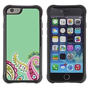 Paccase / Suave TPU GEL Caso Carcasa de Protección Funda para - Petals Minimalist Teal Flower - Apple Iphone 6