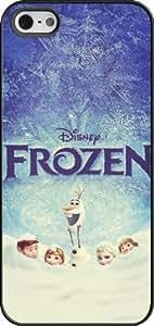 Disney Frozen iPhone 5 Case Cover - Disney Frozen iPhone 5s Hard Plastic Case Cover - Black