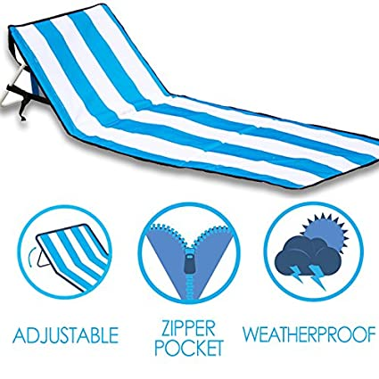 Admirable June May Beach Chair Compact Portable Light Weight Easy Set Up With Storage Pouch And Adjustable Back Beach Chair Inzonedesignstudio Interior Chair Design Inzonedesignstudiocom