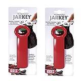 Brix 70712/2 Jarkey Jar Opener Original Easy Key, 2-Pack, Red