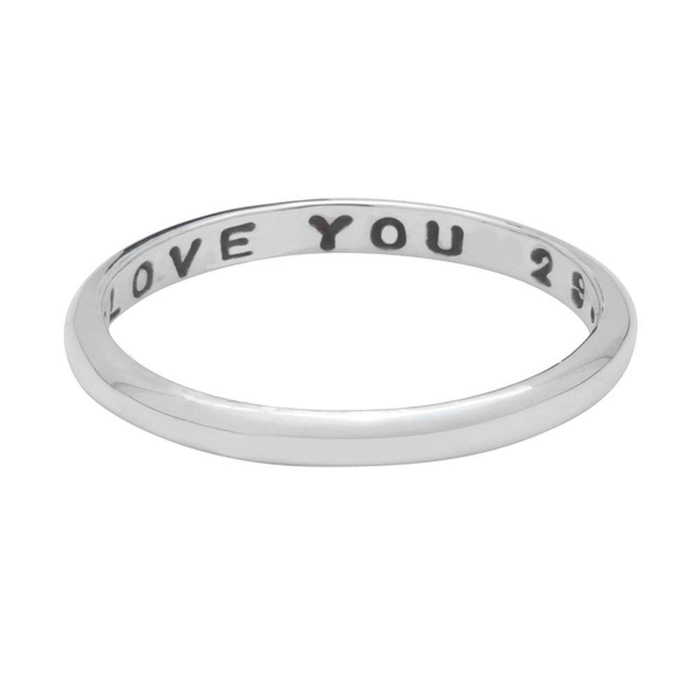Anillo promise de plata esterlina personalizado con tu nombre para mujer.