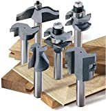 MLCS Woodworking Pro Cabinetmaker 6 Piece Router Bit Set