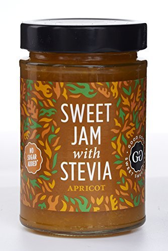 Sugar Apricot Jam - Sweet Jam with Stevia by Good Good - 12 oz / 330 g - No Added Sugar Apricot Jam - Vegan - Gluten Free - Diabetic (Apricot)