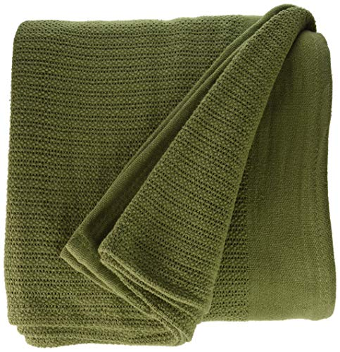 Fiesta Thermal Cotton Blanket, King, Sage