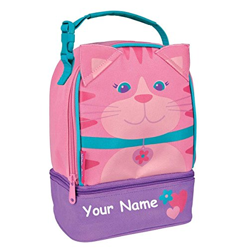 Stephen Joseph Personalized Cat Lunch Pals Lunch Box - Kitty Cafe Cat