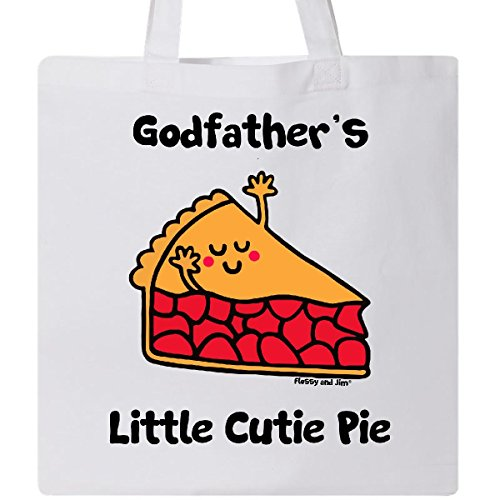 Inktastic - Godfather's little Cutie Pie Tote Bag White - Flossy And Jim
