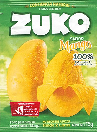 Amazon.com : Zuko Mango Powdered Drink Mix (Pack of 12) with Tesadorz Resealable Bags : Powdered Soft Drink Mixes : Grocery & Gourmet Food