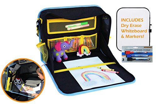 MY TRAVEL FRIEND - Kids Travel Lap Tray and Organizer Shoulder Bag - Perfect for Road Trips and Flights - Coloring, Drawing, Snacking, and Playing