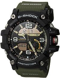 Casio De los hombres G SHOCK 'resina y acero inoxidable de cuarzo reloj Casual, Color: Verde (Modelo: gg-1000–1A3CR)