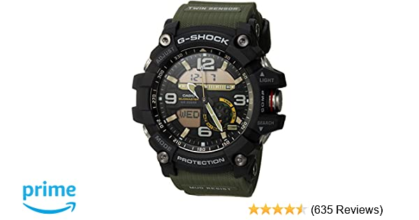 9057d197744 Amazon.com  Casio Men s GG-1000-1A3CR Mudmaster G-SHOCK Quartz Casual  Watch