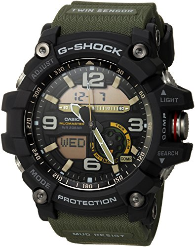 Casio Men's GG-1000-1A3CR Mudmaster G-SHOCK Quartz Casual Watch, Green (Best G Shock Mudmaster)