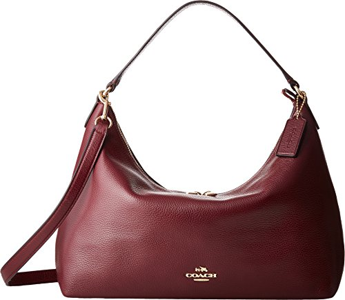 COACH Women's Pebbled Leather East/West Celeste Convertible Hobo Im/Burgundy One Size by Coach
