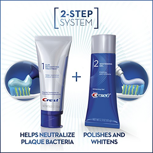 Crest Gum Detoxify + Whitening 2 Step Toothpaste, 4.0 oz and 2.3 oz by Crest (Image #2)