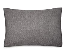 Calvin Klein Home Modern Cotton Ray Shams, Standard, Black/Cream
