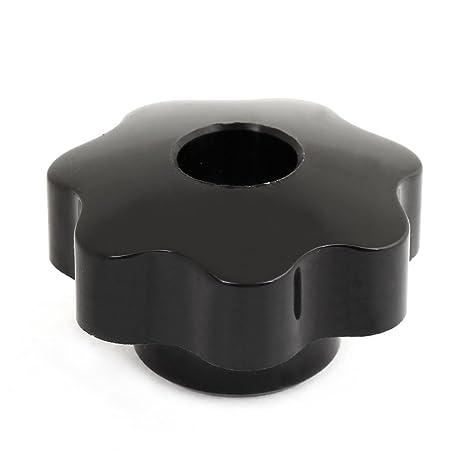 Sourcingmap – 8 mm rosca hembra plástico negro 50 mm de diámetro Star tornillo de sujeción