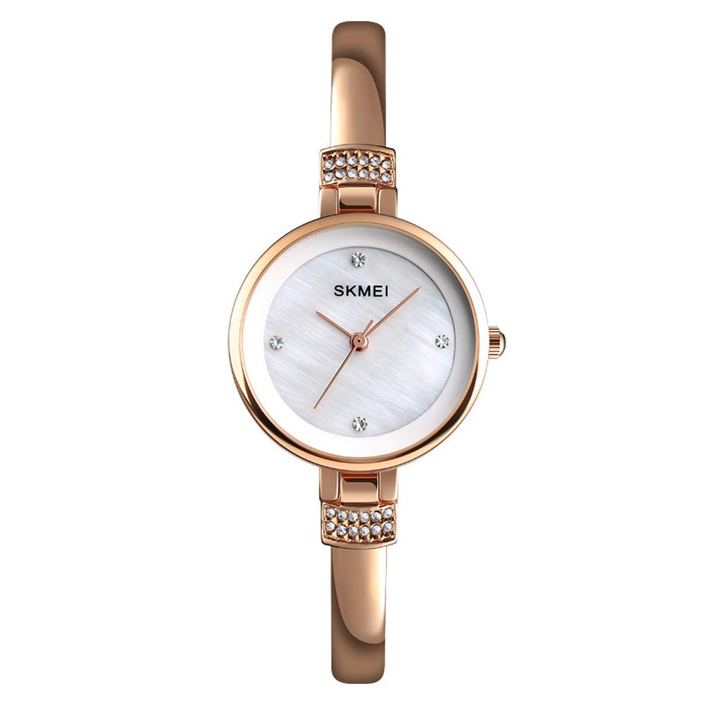 SPORS Alloy Ladies Diamond Watch, Simple and Stylish Watch, Exquisite and Beautiful Small Watch-Rosegold by SPORS