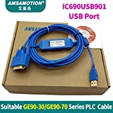 IC690USB901 IC690ACC901 Suitable GE90-30 GE90-70 Series PLC programming Cable USB And RS232 Port Version (IC690ACC901)